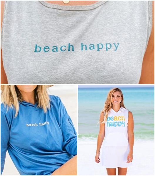 Eco Friendly Beach Happy Women's T-Shirts Thank Tops Hoodies & Beach Dresses