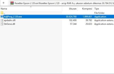 1 software reset printer epson 120