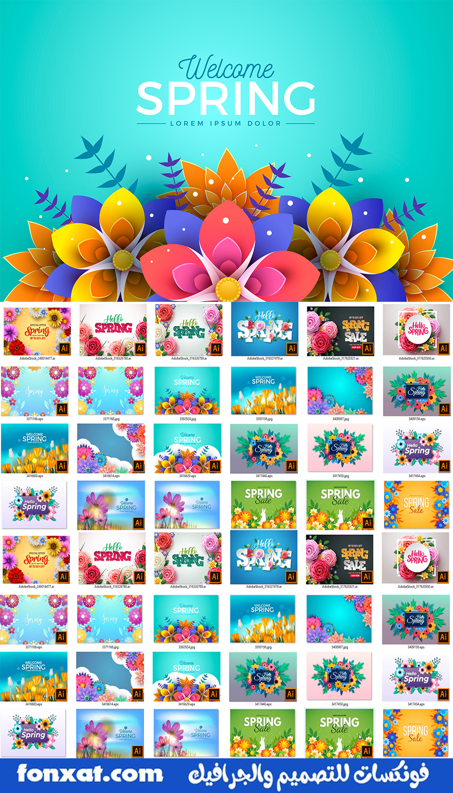Spring.Floral.And.Sale.Banner.Background.eps-ai