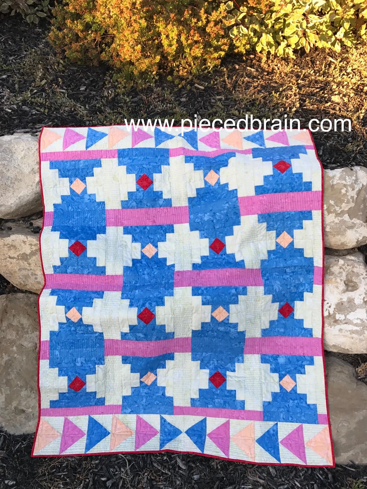 Log Cabin Patterns : Pieced brain log cabin variations quilt