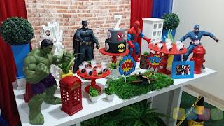 Decoração de festa infantil Super Herois Porto Alegre
