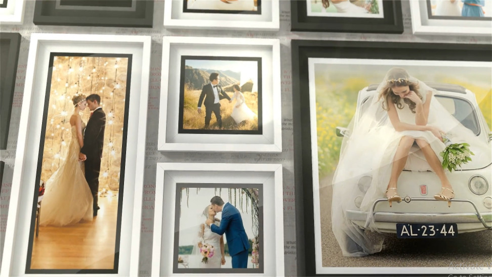 Projects - VideoHive - Romantic Photo Wall - 28520442 [AEP, MOGRT]