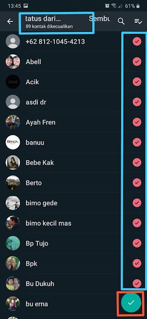 Cara Menyembunyikan Status Whatsapp dari orang
