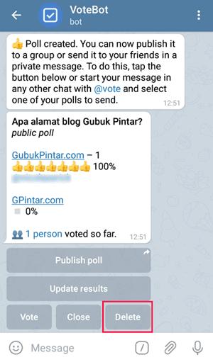 delete poll bot vote telegram
