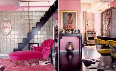 Desain Interior Rumah Minimalis Warna Cat Pink
