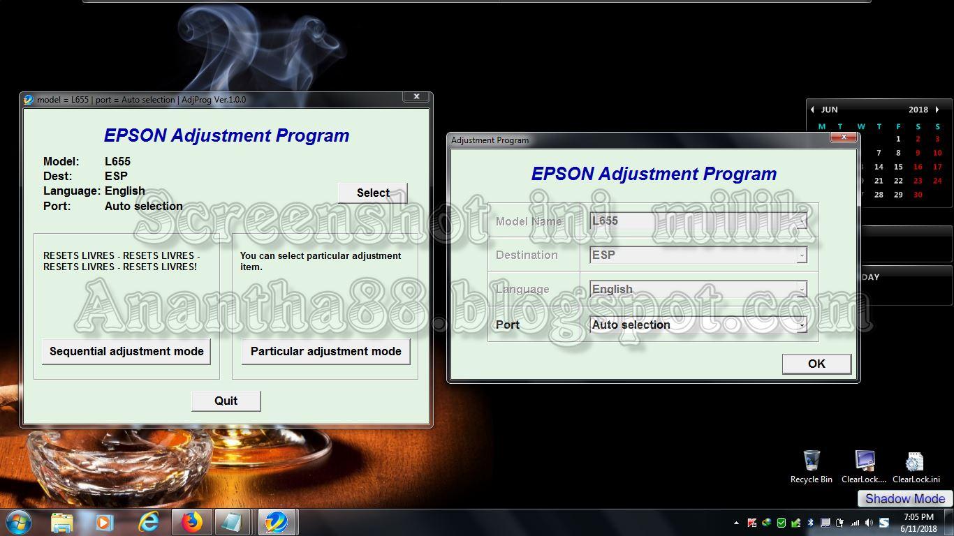 Anantha blogspot com: RESETTER EPSON L655 FULL VERSION