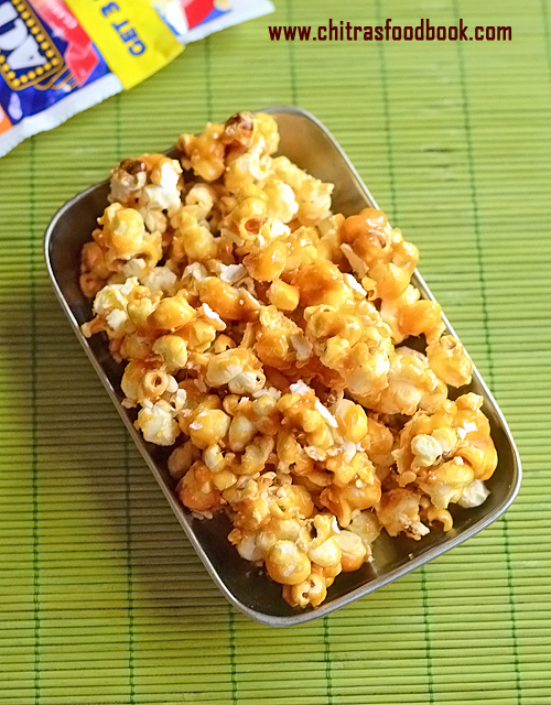 how to make caramel popcorn with caramel syrup