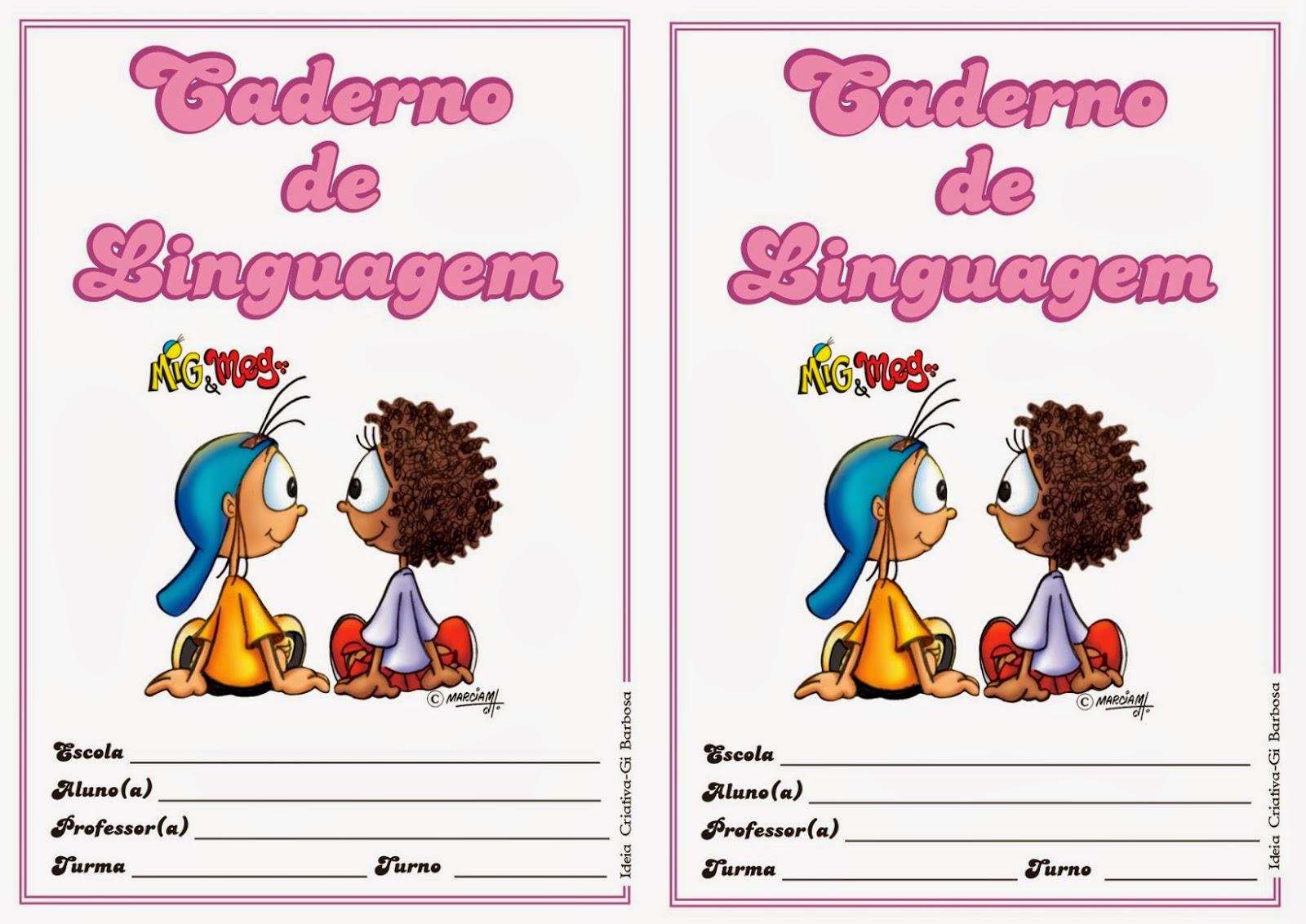 Capinhas De Cadernos Coloridas Infantis Para Imprimir