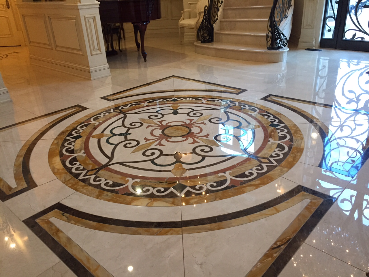 Marble Tile Flooring Ideas: New 50 Marble Floor Tile Designs For Living Room And