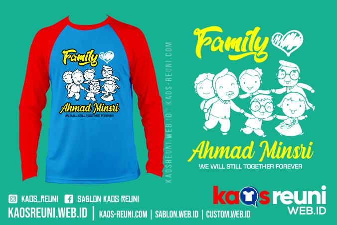 Kaos Family Keluarga Besar Pak Ahmad - Desain Sablon Kaos Reuni Gathering - Kaosreuni.web.id