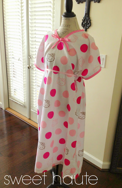 Sweethaute Diy Maternity Hospital Gown Free Pattern
