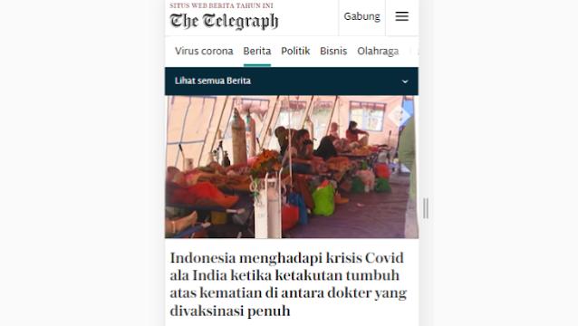 Media Asing Soroti Darurat Covid-19 di Indonesia yang Terus Memburuk