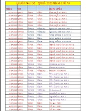 DD GIRNAR Prasaran July Month Time table For std 9 to 12 Home Learning