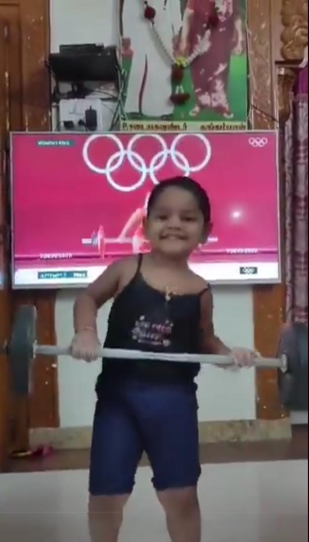 Girl gets inspired from Mirabai Chanu