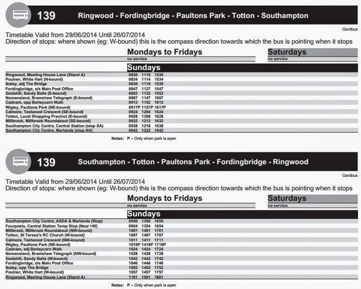 Southampton Bus Update New Forest Tour Sunday Buses To
