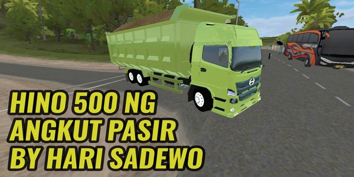 Download MOD Truck Hino 500 NEWGEN Angkut Pasir BUSSID By