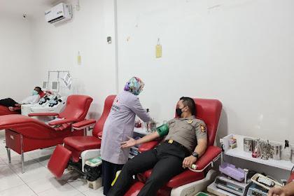 Serdik Sespimmen Angkatan 61  Fantry Taherong Ikuti Donor Darah Di PMI Kota Makassar