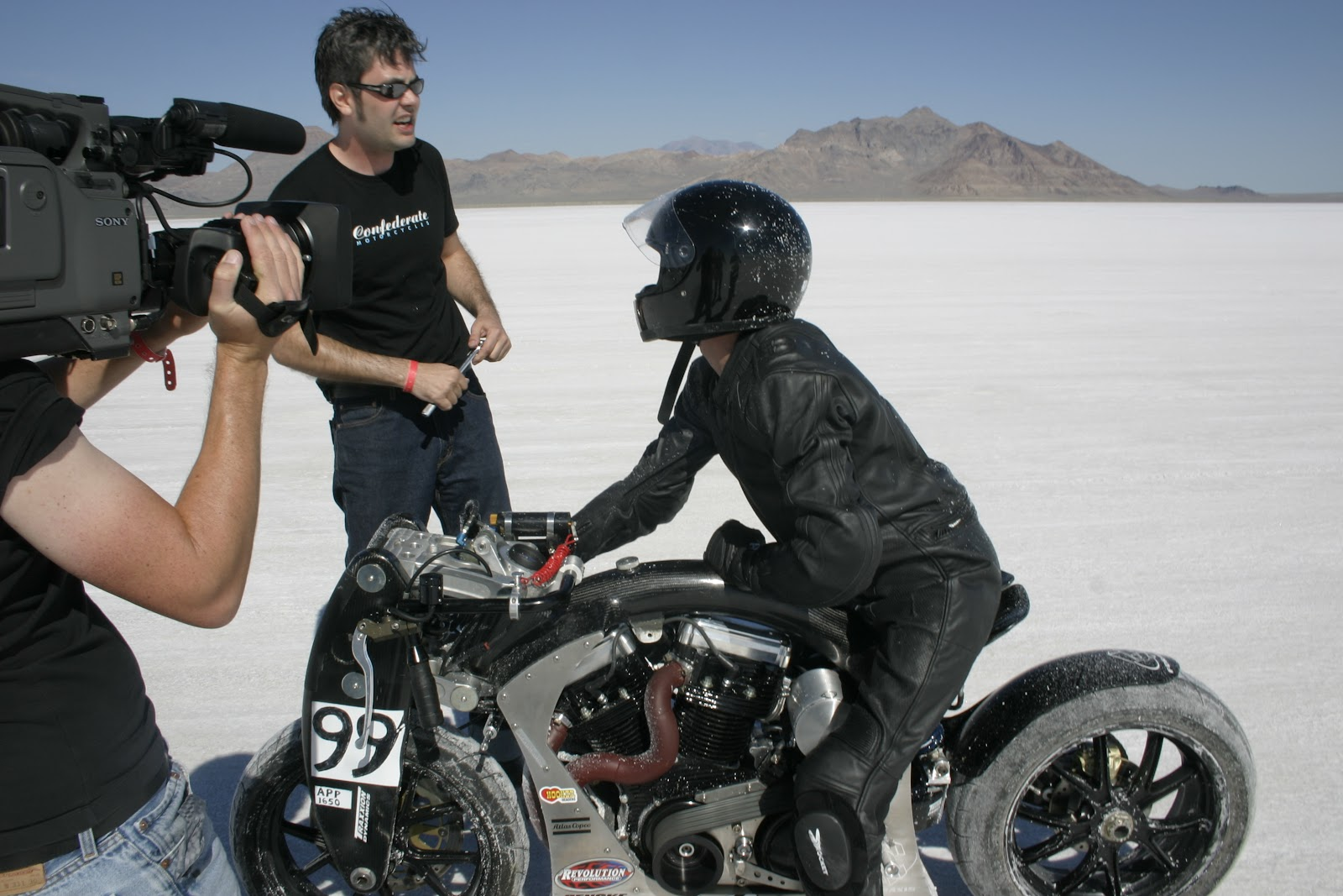 Christ Roberts and JT Nesbitt at Bonneville, 2004