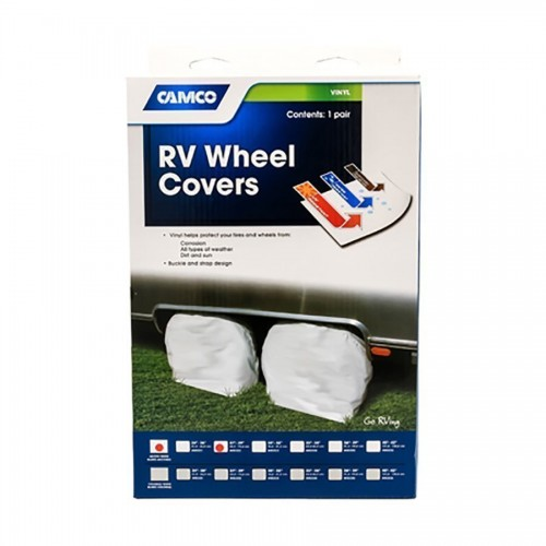 Towable trailers, pop up campers and any RV could benefit from wheel covers.