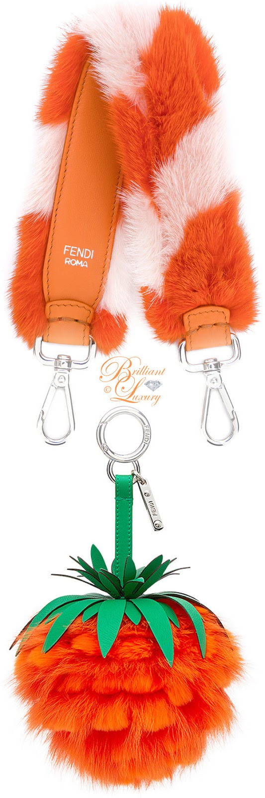 Brilliant Luxury ♦ Fendi strap you strap bag and fruit bag charm #orange