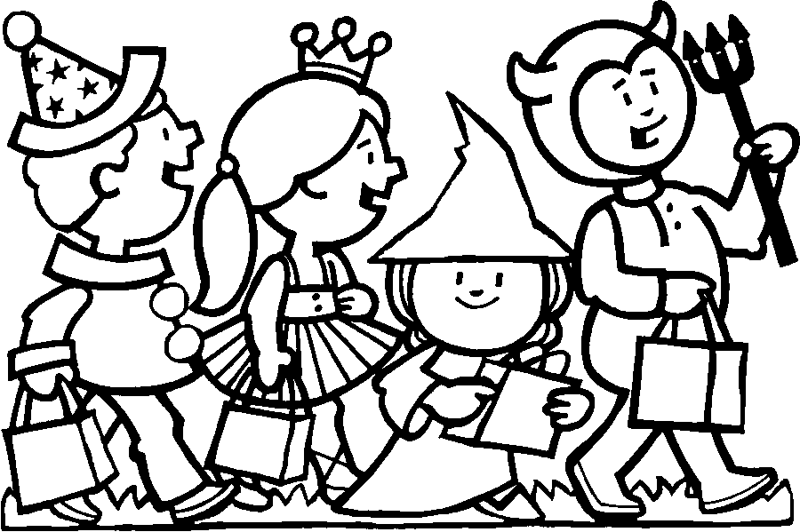 Halloween 2017 trick or treat coloring pages printable for kids