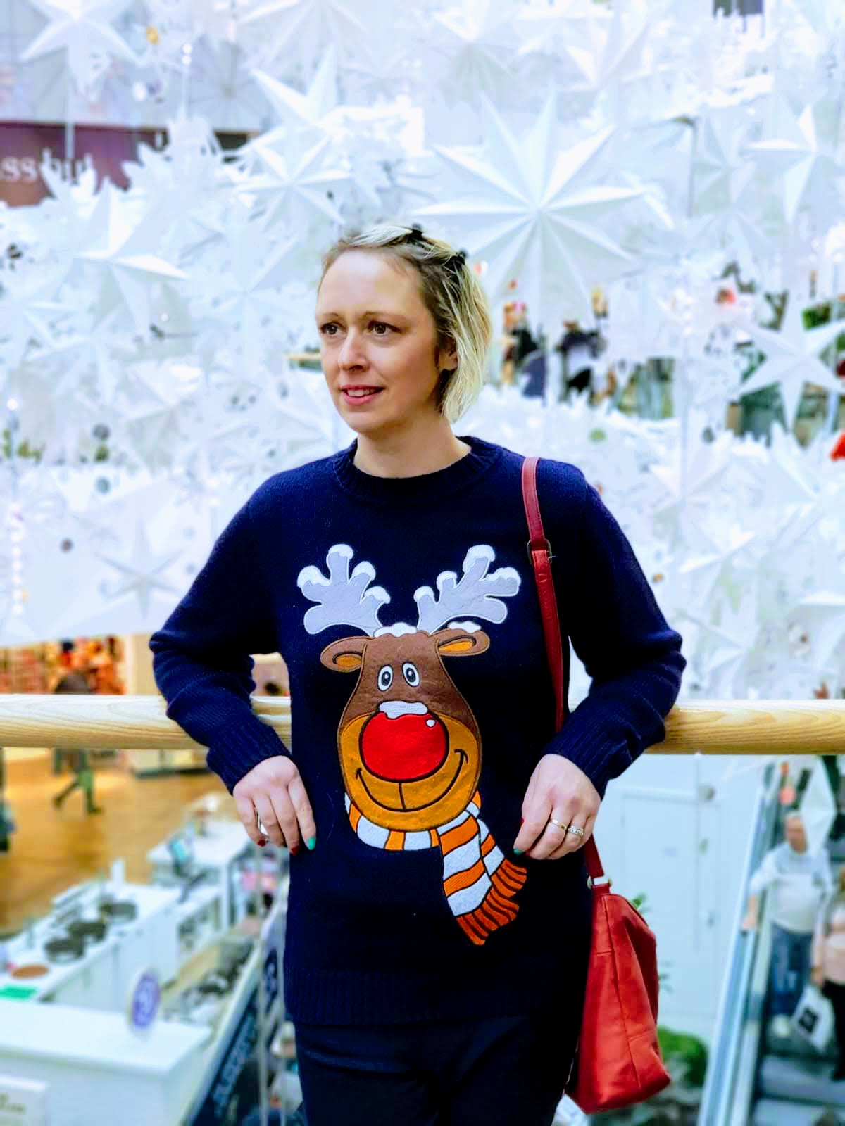 Christmas Shopping Meadowhall And Christmas Reindeer Jumper