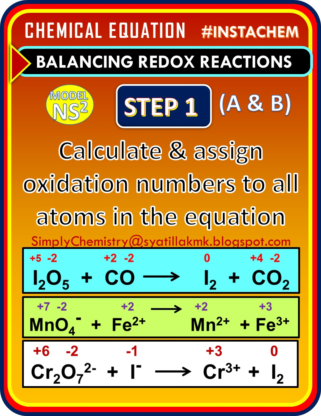 Simplychemistry Balancing Redox Equation