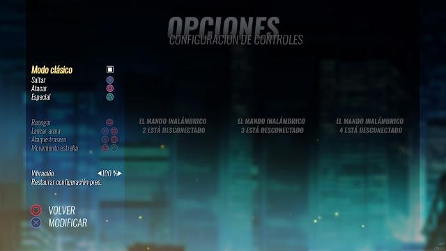 Streets of Rage 4 - Controles modo clásico