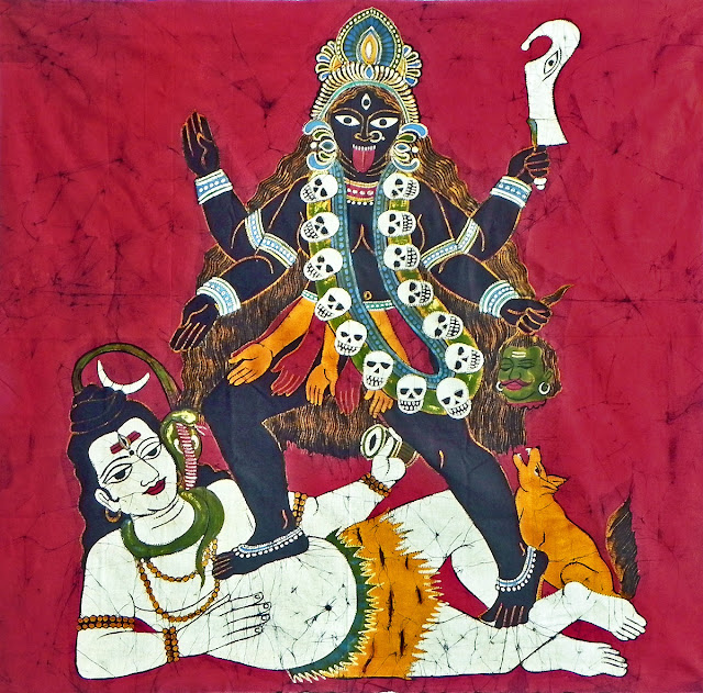 Best Maa Kali With Shiva Painting  Wallpaper