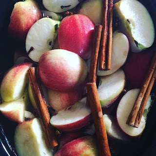 apple cider in the crockpot