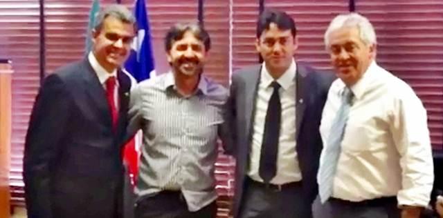 Jabes Júnior, Neo e Sérgio Brito se reúnem com o vice-governador