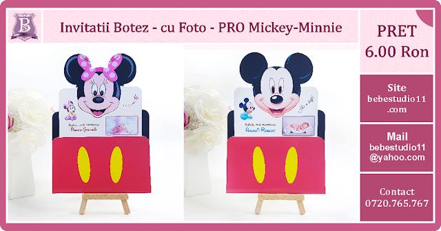 invitatii botez contur pro Mickey-Minnie