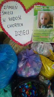 Podsumowanie z akcji zbierania plastikowych zakrętek oraz konkursu Zakręcona Klasa