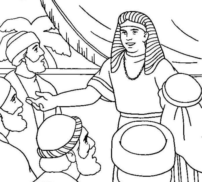 COLOREA TUS DIBUJOS: Dibujo de Jose y sus hermanos para colorear