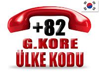 +82 Güney Kore ülke telefon kodu