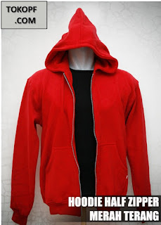 Jaket Polos Warna Merah Terang