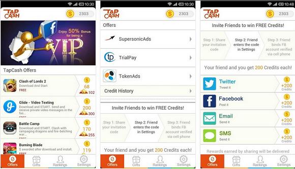 Tap Cash Rewards Android app allows you to earn gift cards كسب بطاقات الهدايا تحميل وتتبيث وتشغيل أحدث الألعاب المجانية والتطبيقات