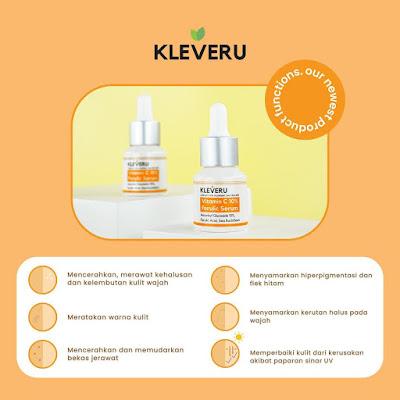 Keunggulan KLEVERU Vitamin C 10% Ferulic Serum