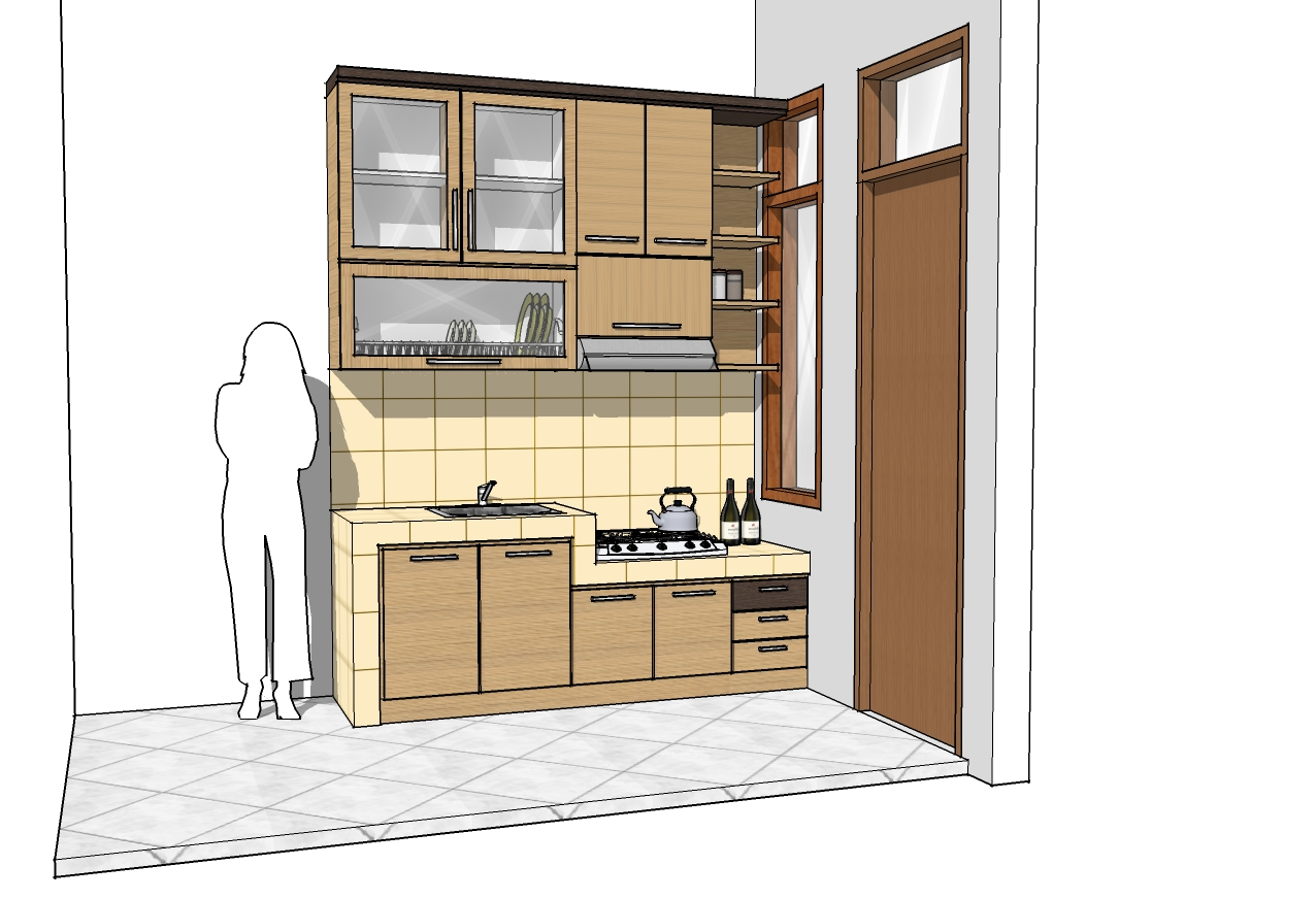 Kitchen Set El Mebel Minimalis