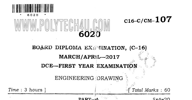 ENGINEERING DRAWING PREVIOUS QUESTION PAPER FOR FREE DOWNLOAD