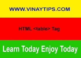 10. HTML Table Tag की पूरी जानकारी हिंदी में।