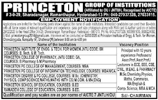 Princeton Group of Institutions Assistant Professor jobs