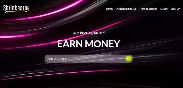 shrinkearn best url shortener to earn money