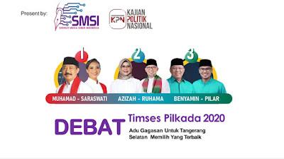 Besok, SMSI Tangsel Gelar Debat Timses Paslon Pilkada 2020