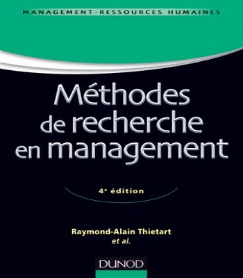 Méthodes de recherche en management - 4e édition pdf