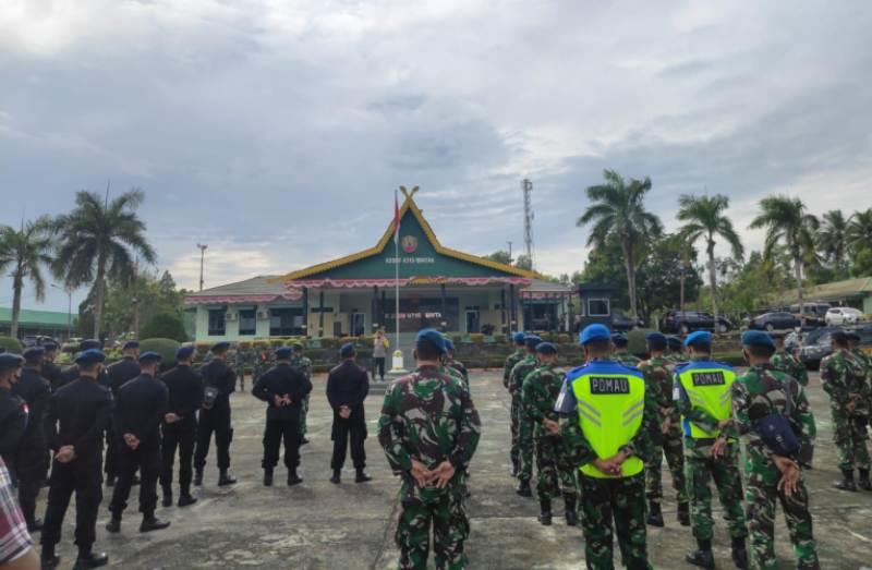 Kapolres Tanjungpinang Pimpin Apel Gabungan TNI-POLRI Kesiapan Pengamanan Unjuk Rasa di Kota Tanjungpinang