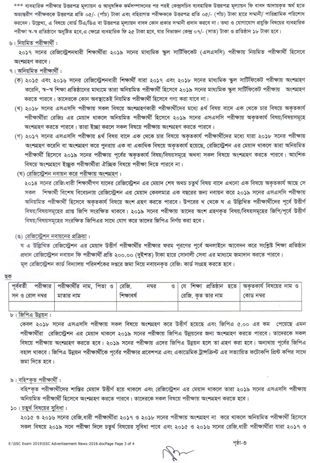 Dhaka Board SSC Exam 2019 Online Form Fill-Up Notice 2018