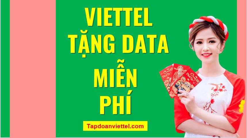 Viettel tặng data miễn phí
