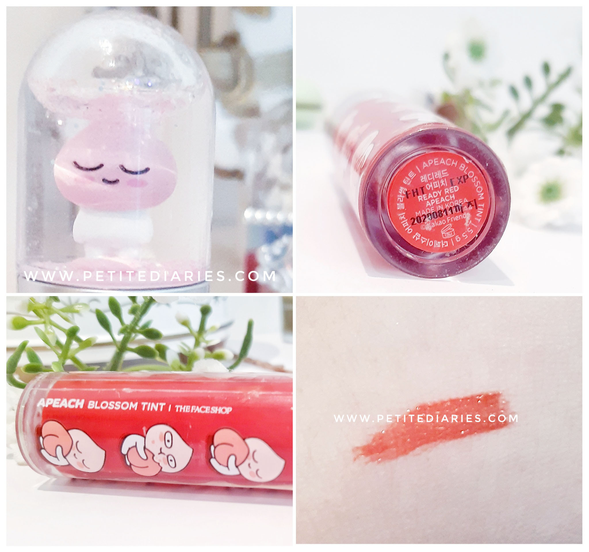 review kakao friends apeach blossom tint red