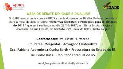 Mesa de debates - Reformas Eleitorais - Eleições 2018